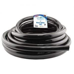 1 in. ID Black Vinyl Tubing, Per Foot